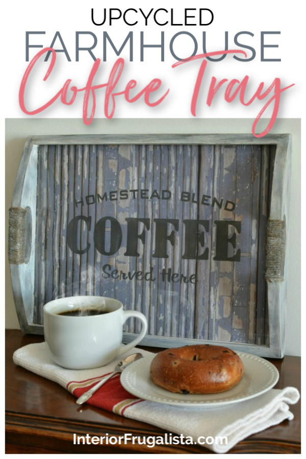 Upcycled Rustic Farmhouse Coffee Tray