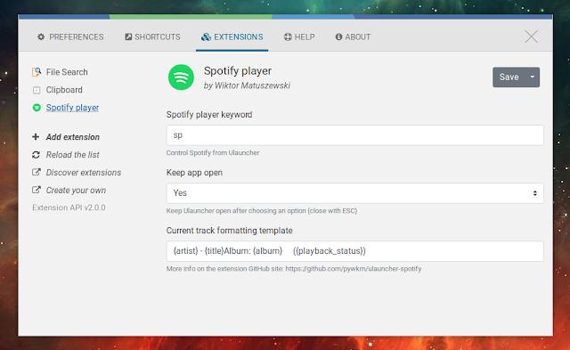 Ulauncher Spotify