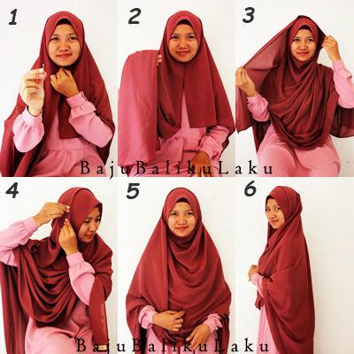 Cara Memakai Jilbab Segi Empat Simple Modern Syari