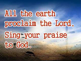 HYMN: All The Earth Proclaim Lyrics Text