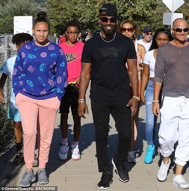 Jamie Foxx spotted with singer Sela Vave at the Malibu Chili Cook-Off Festival