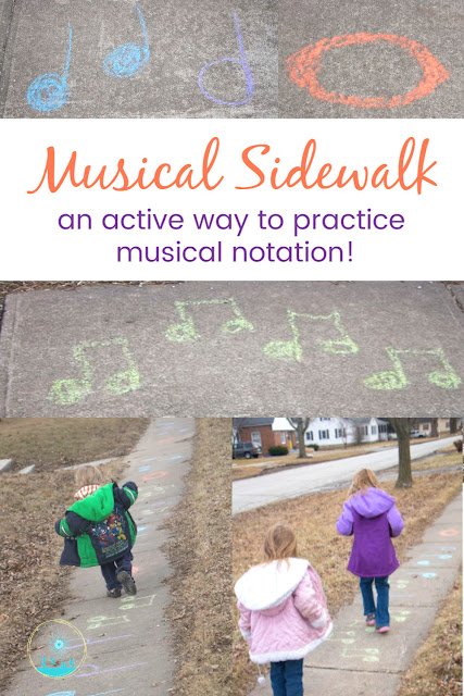 Musical Sidewalk: Get Active with  Musical Notation Practice