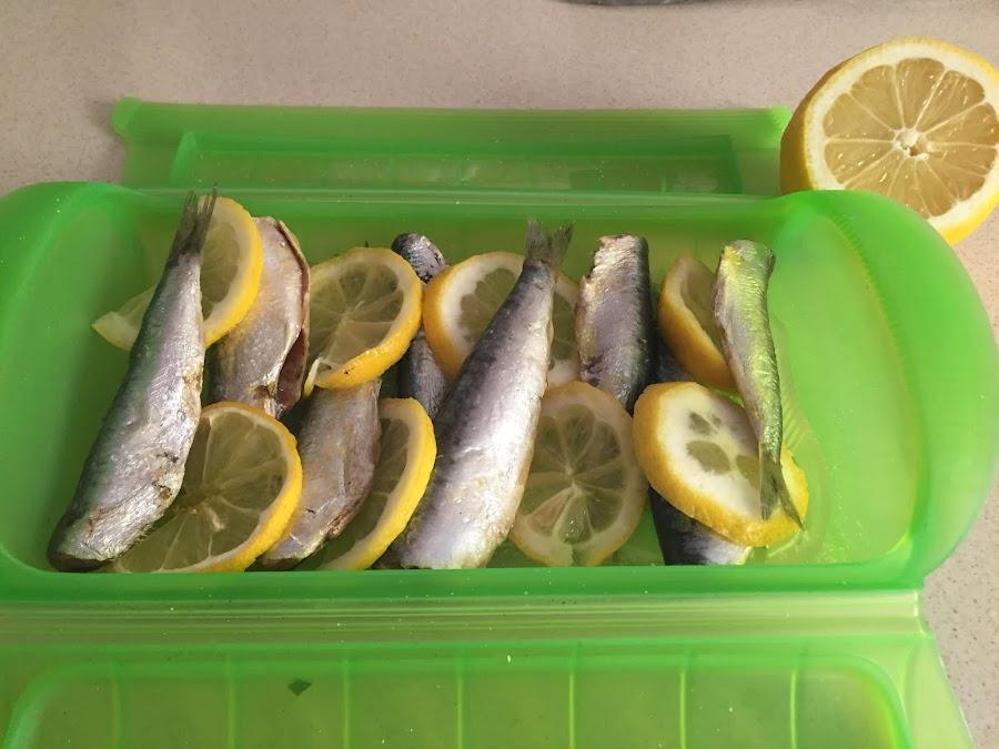 Sardinas al limón en el microondas