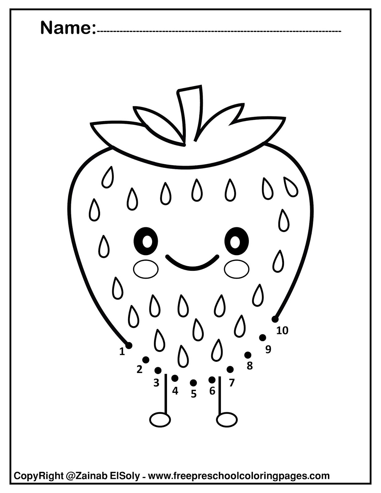 Set Of Kawaii Food Coloring Pages For Kids