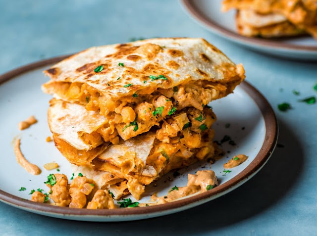 Vegan Quesadillas With Chickpeas #vegan #lunch