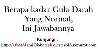 Berapa kadar gula darah yang normal, ini jawabannya