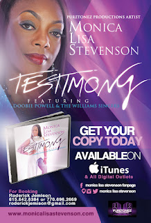 "Listen To ""Testimony"" Music Snippet ""Testimony"" is available on digital outlets and Monica Lisa's forthcoming EP is expected this fall"