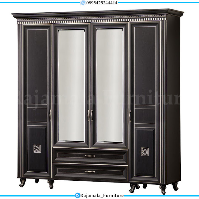 Lemari Pakaian Minimalis Kaca Black Edition Color Luxury RM-0305