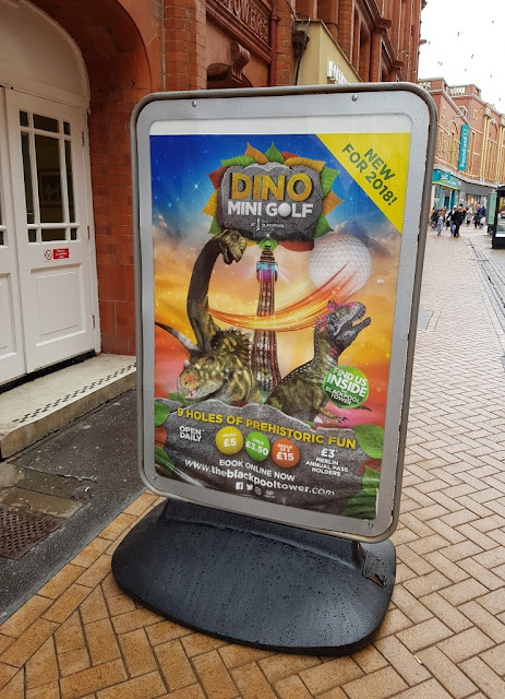 Dino Adventure Golf course at the Blackpool Tower