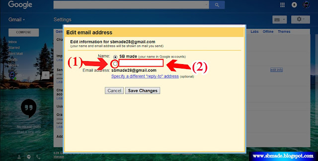 gmail with send mail as feature
