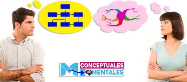 Diferencias entre Mapas Conceptuales y Mapas Mentales
