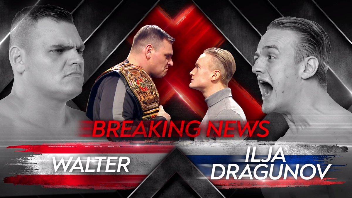 WALTER vs. Ilja Dragunov II é adiado após lesão