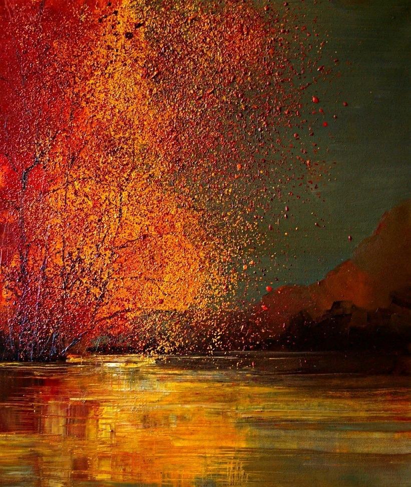 Autumn by polish artist Justine Kopanâ