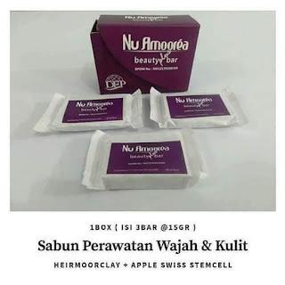 Sabun Wajah Nu Amoorea Beauty Plus Bar 1 Box Isi 3 Sabun 15gr
