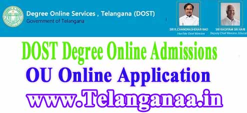 OU Degree Online Admissions  dost.cgg.gov.in Osmania University Degree Online Services Telangana