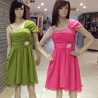 butik dress import murah jual rainbow dress murah