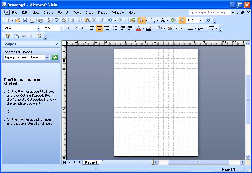Tutorial cara membuat diagram di microsoft office visio pemerogaman dokumen baru microsoft office visio 2007 ccuart Choice Image