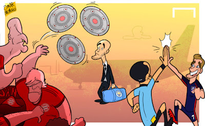 Guardiola and Bayern Munich supporters
