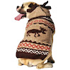 Chilly Dog Moosey Hoodie Dog Sweater, X-Large