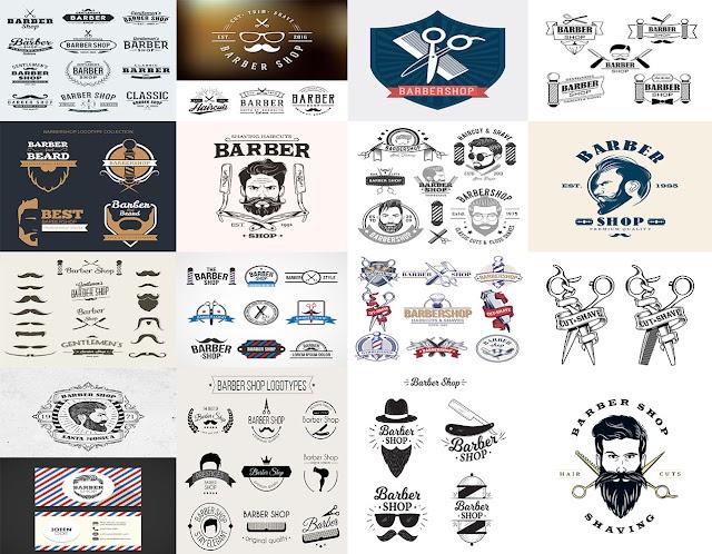 لوجو لصالونات الحلاقة رجالي وشبابي -logo barber