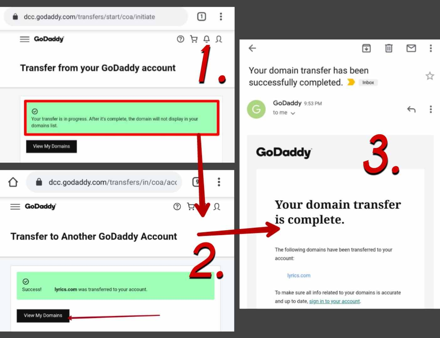 GoDaddy-Domain-Transfer-How-To-Transfer-Move-Domain-From-One-To-Another-Account