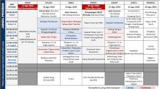 Panduan dan Jadwal Belajar Dari Rumah di TVRI Minggu Ke Enam 17 - 23  Agustus 2020