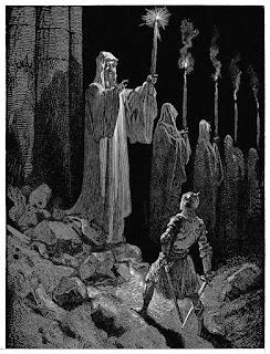 Corpse Candles; Gustave Dore