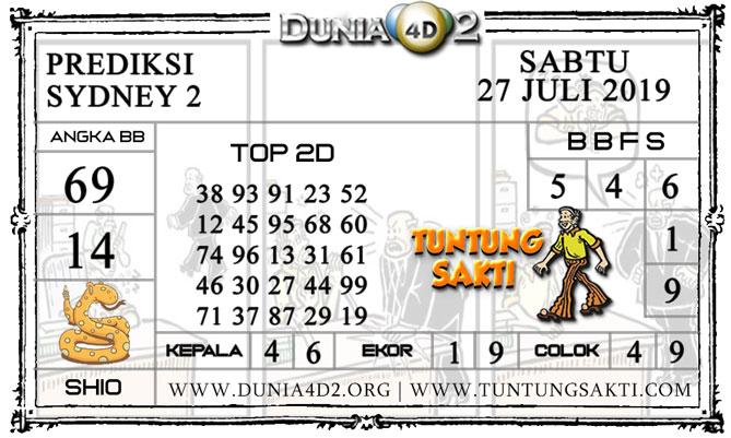 """Prediksi Togel """"SYDNEY 2"""" DUNIA4D2 27 JULI 2019"""