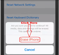 how to delete data on iphone before selling