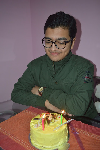 specs, spectacles, birthdays, 17years, teenager, shiv sangal, timex, watch, green, jacket, hot guy, lad, boy, smart, cake