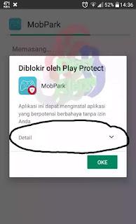 peringatan aplikasi berbahaya