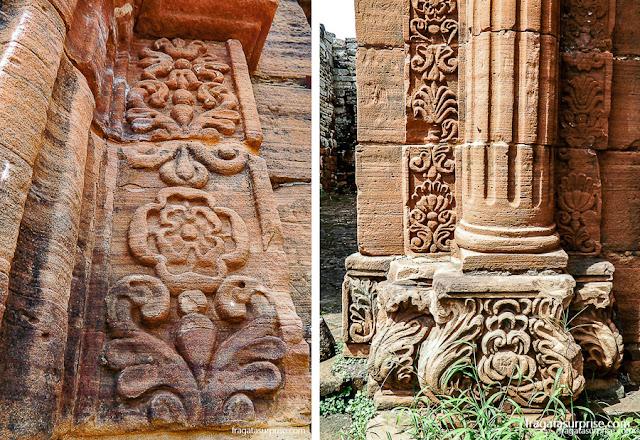 Detalhes decorativos das construções da Missão Jesuítica de San Ignacio Miní