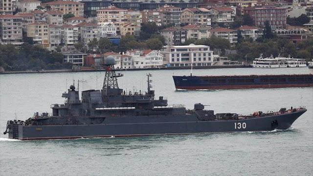 Rusia envía a Siria dos buques en medio de tensiones con Turquía