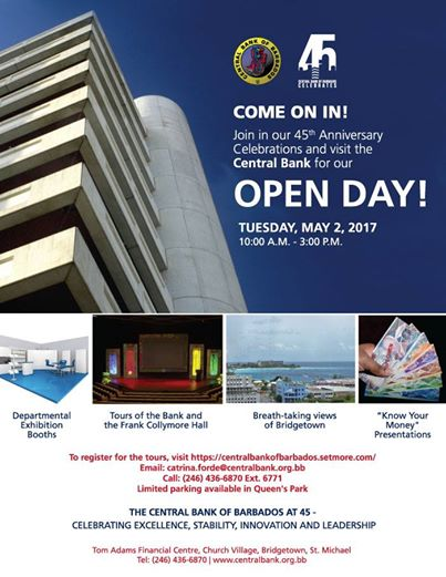 So very very thankful the central bank of barbados however when i received an open day invitation for the 45th anniversary celebrations i thought it was the right time to attend stopboris Gallery