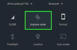 Cara Mengaktifkan Mode Pesawat