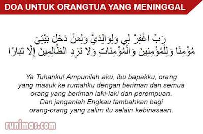 doa untuk orangtua yang meninggal dunia