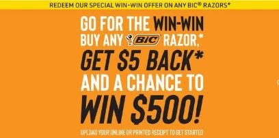 bic razor mail in rebate