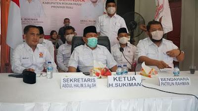 Kongres luar Biasa Partai Gerindra Tahun 2020 Yang Di Saksikan dari kantor DPC Gerindra kabupaten Rokan hulu