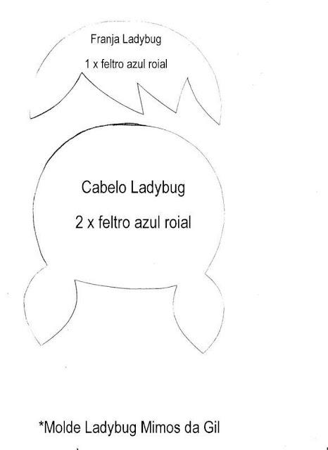 "alt=""molde ladybug para artesanato em feltro"""