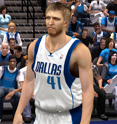 NBA 2K13 Dirk Nowitzki Long Beard Mod