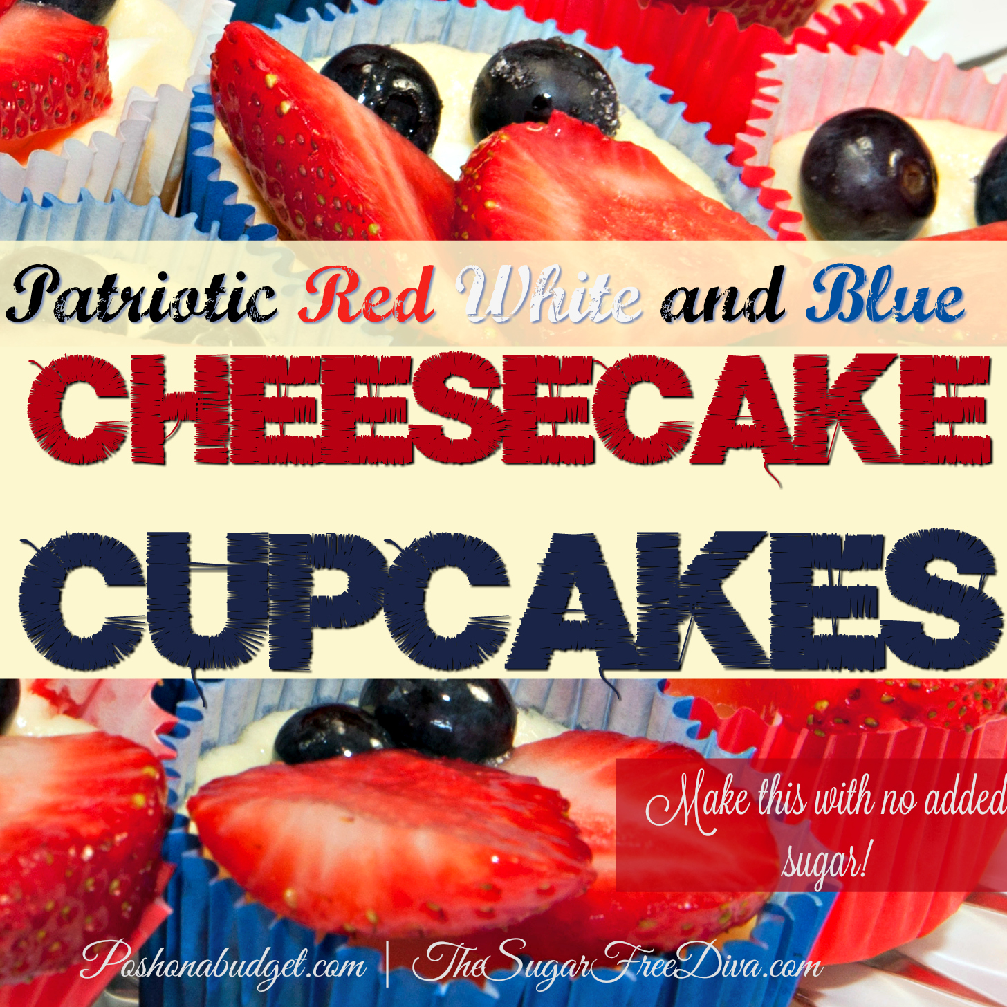 patriotic  cheesecake cupcakes