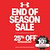 Under Armour 25 off sale