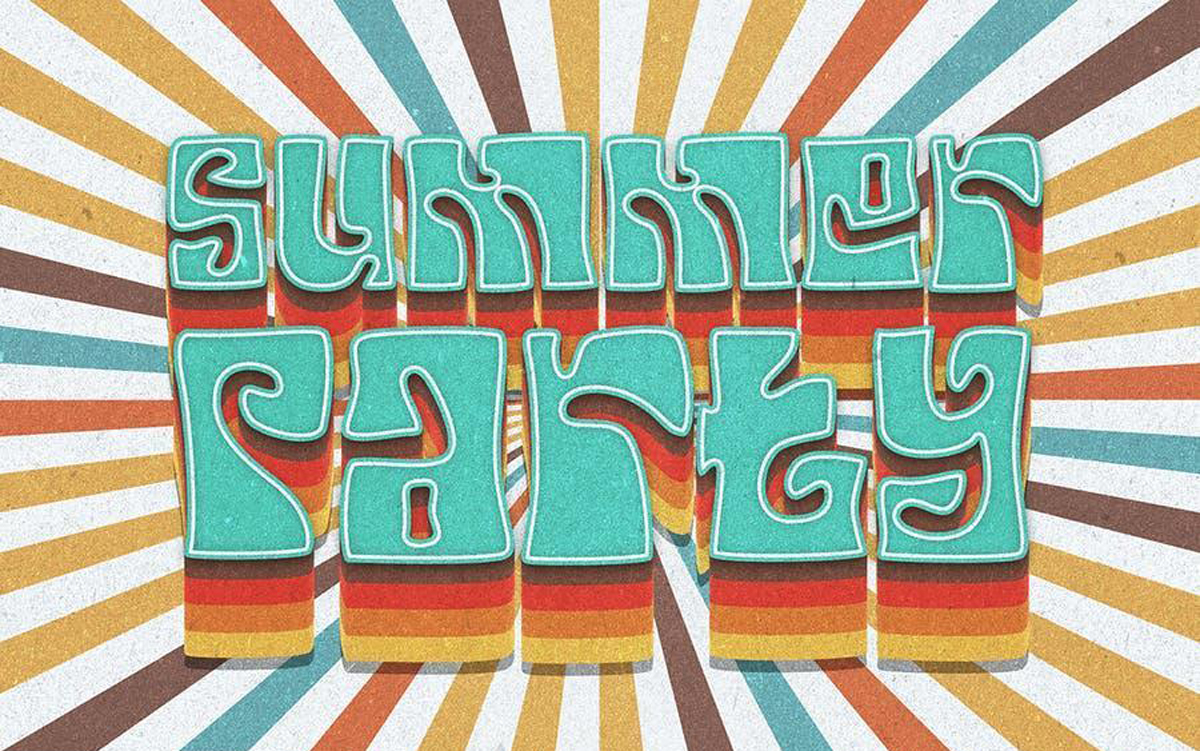 Your Groovy Font funk psychedelic 70s font