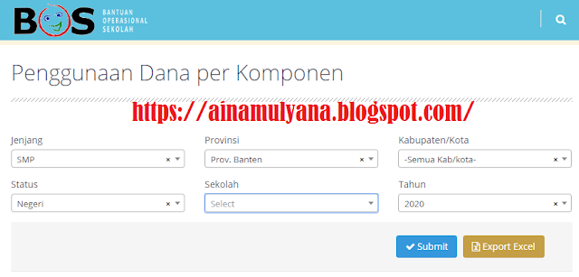 Cara Cek Penggunaan Dana BOS SD SMP SMA SMK Di halaman situs atau Website bos.kemdikbud.go.Id.