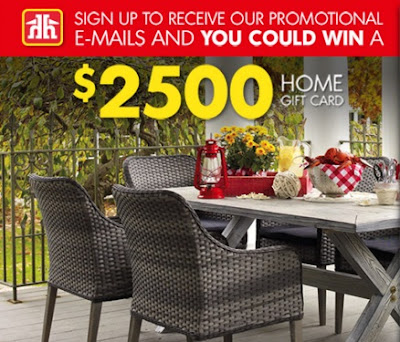 Home Hardware Win $2500 Home Gift Card Newsletter Sweepstakes