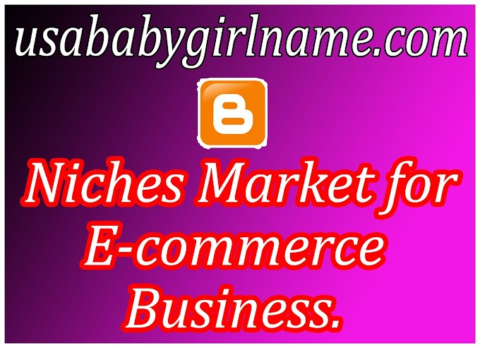 Niches Market for E-commerce Business 2020