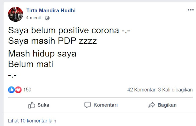 dr tirta PDP Corona