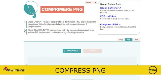 COMPRESS PNG, COMPRIMERE IMMAGINI ONLINE