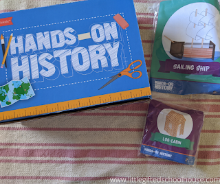 Bookshark Hands on History Kit that was optional with our Bookshark Level A Curriculum