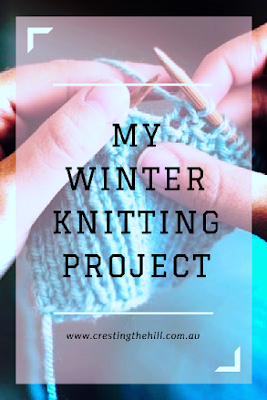 when the weather outside is frightful it's time to warm up with a little knitting